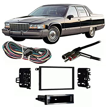 51r8dE5KtML._SY355_ amazon com fits cadillac fleetwood 1993 1996 double din harness 1996 cadillac fleetwood radio wiring diagram at fashall.co