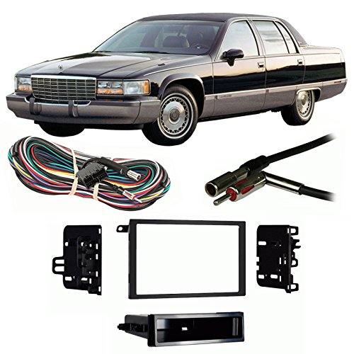 Fits Cadillac Fleetwood 1993-1996 Double DIN Harness Radio Install Dash Kit ()
