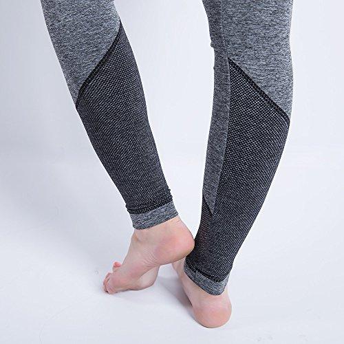 iLUGU Women Gym Yoga Patchwork Sports Running Fitness Leggings Pants Athletic Trouser(S,Black-5) by iLUGU (Image #3)