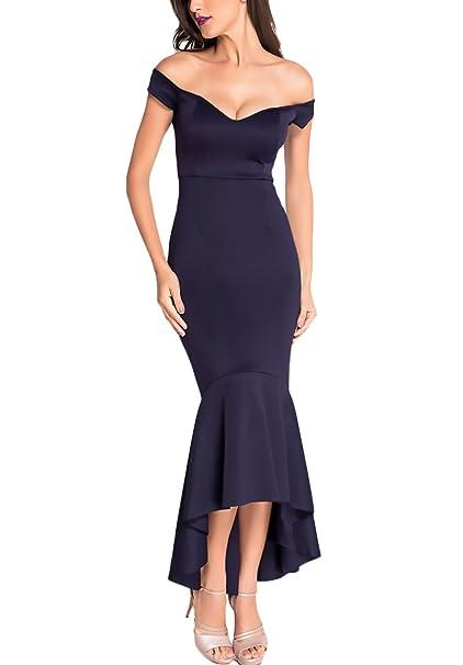 Mujer Vestidos De Fiesta Para Bodas Largos Elegantes Vintage Slim Sirena Vestido De Noche Verano V