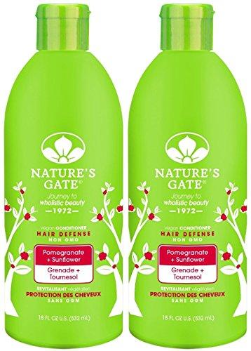 Nature's Gate Hair Defense Conditioner - Pomegranate Sunflower - 18 oz - 2 pk - Pomegranate Sunflower Hair Defense