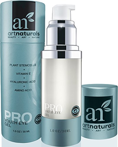 ArtNaturals Natural Eye Cream Gel - (1 Fl Oz / 30ml) - Ageless Looking Skin, Good For Dark Circles, Puffiness, Fine Lines - From Aloe, Hyaluronic Acid & Retinol - For Men & Women