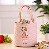 Lunch Box,IEason Clearance Sale! PThermal Insulated Box Tote Cooler Bag Bento Pouch Lunch Storage Case (Pink)