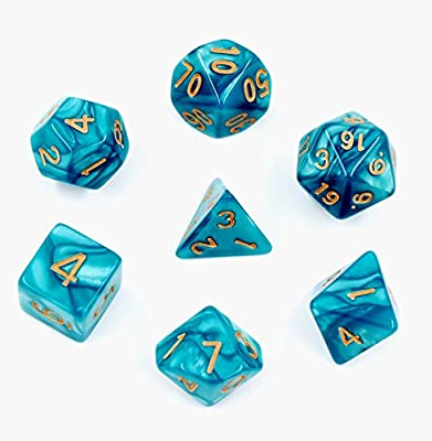 38da7a42 Amazon.com: Polyhedral D&D Dice Set - Set of 7-Die Dice for Dungeons & Dragons  Dice Games, Pathfinder, Magic The Gathering (MTG), Math Games and ...