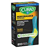Curad Performance Series Extreme Hold Antibacterial Fabric Bandages, 1' x 3.25', 20 Count