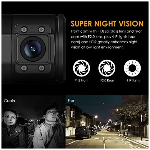 VANTRUE N2 Pro Dual Dash Cam Dual 1920x1080P Front and Rear Dash Cam (2.5K Single Front Recording) 1.5″ 310° Car Dashboard Camera w/Infrared Night Vision, Sony Sensor, Parking Mode, Motion Detection Car and Vehicle Electronics [tag]