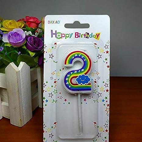 Candela digitale con numeri e numeri per feste KDSANSO 9,5 cm