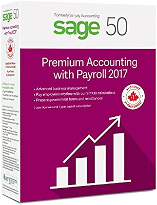 Sage 50 Premium Accounting 2017 with Payroll Services (2-User