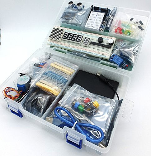 jdhlabstech MEGA 2560 Starter Kit Ultra (100% Arduino IDE Compatible) w/battery holder