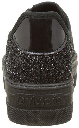 Victoria Black Women's Deportivo Noir 10 Top Sneakers Low Glitter CACrY