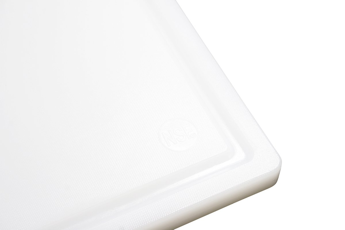 Commercial Plastic Carving Board with Groove, NSF Certified, HDPE Poly (24 x 18 x 0.75 Inch, White) by Thirteen Chefs (Image #3)