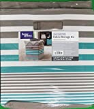Better Homes and Gardens Collapsible Fabric Storage Cube - Teal & Taupe Stripe