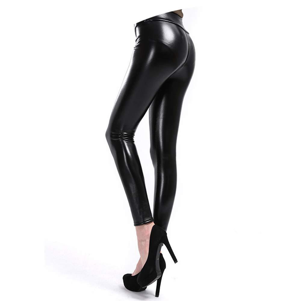 02e139dd46e777 5XL Warm Leather Plus Velvet Winter High Waist Women Pants Plus Size Long  Leggings at Amazon Women's Clothing store: