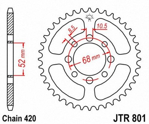 JT Pi/ñones jtr801.35/35T Acero Corona Trasera