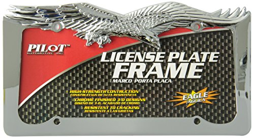Bully WL108-C Eagle License Plate Frame - Chrome