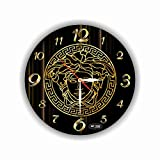 "Versace Wall Clock 11"". Quiet Mechanism Exclusive Handmade Wall Clock Versace11 Inches – Unique Item for Home and Office, Original Present for Every Occasion – Made of Acrylic Glass - Plastic"