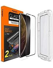spigen, 2 Paquetes, Protector de Pantalla para iPhone XR, EZ FIT