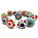 12 x Mix Vintage Look Flower Ceramic Knobs Door Handle Cabinet Drawer Cupboard Pull