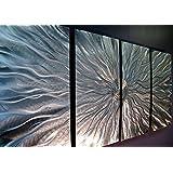 Statements2000 Silver Metal Wall Art, Abstract Metallic Wall Hanging - Contemporary Wall Art - Modern Panel Art, Wall Decor, Wall Sculpture, Wall Accent - Static