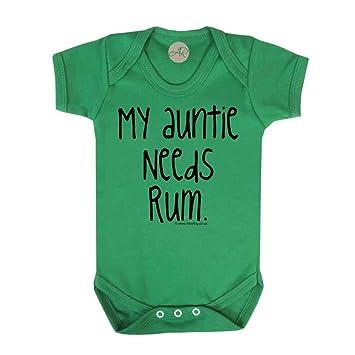 93842fd4d My Auntie Needs Rum Fun Slogan Baby Vest (18-24 Months
