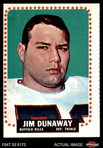 1964 Topps # 27 Jim Dunaway Buffalo Bills (Football Card) Dean's Cards 2 - GOOD (1964 Buffalo Bills)