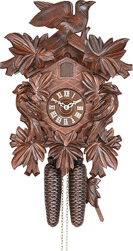 German Cuckoo Clock 8-day-movement Carved-Style 13.00 inch - Authentic black forest cuckoo clock by ()