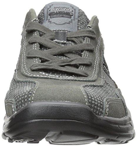 Skechers Usa Mens Glides Status Allacciatura Sneaker Char