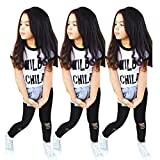 Toddler Girls Clothes Set, FranterdPrint T-shirt Tops+Long Pants Outfit