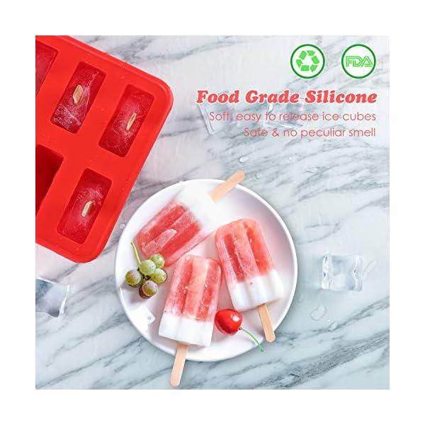 Nuovoware Stampo per Gelato, 10 Cavità Stampi Riutilizzabili in Silicone Senza BPA con Vassoio Produttori per Ghiaccioli… 2 spesavip