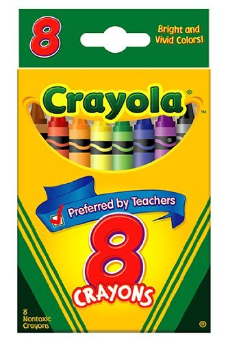 (Crayola : Classic Color Pack Crayons, Wax, Standard Size, Peggable Tuck Box, 8 Colors/Box -:- Sold as 2 Packs of - 1 - / - Total of 2 Each)