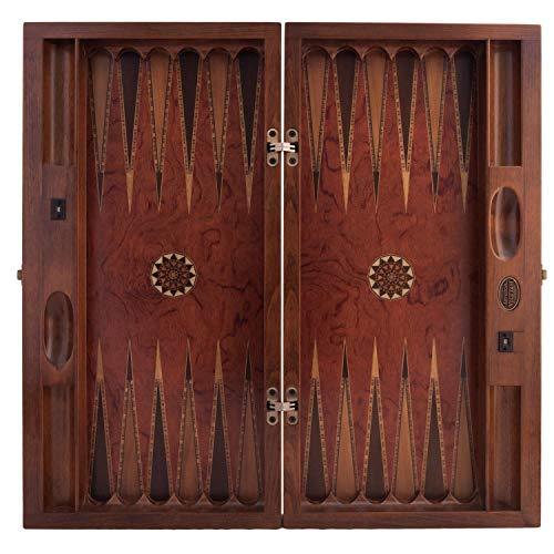 Helena wood art Genius Backgammon Set - Long | Rosewood