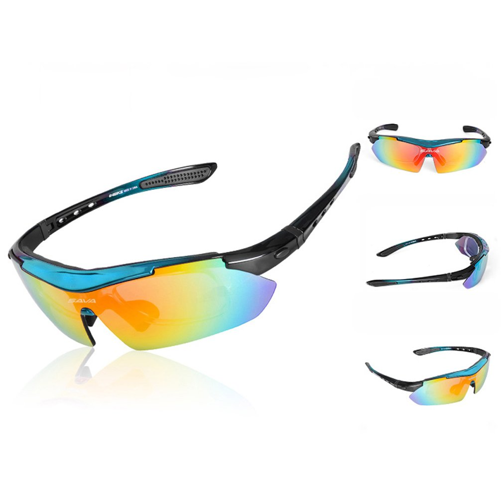 Sava Gafas de Sol Deportivas Polarizadas TR90 Manera Reflexiva de Deportes al Aire Libre para Bicicleta Actividades con 5 Lentes de Ciclismo Gafas Sol ...