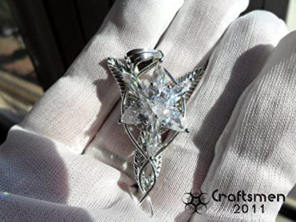 Buy craftsmen silver like lord of the ring silver like arwen craftsmen silver like lord of the ring silver like arwen evenstar elf necklace pendant pure silver aloadofball Images