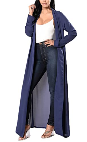 Chaquetas Mujer Cárdigans De Manga Larga Suelto Unicolor Elegante Hippie Fashion Casual Outwear Play...