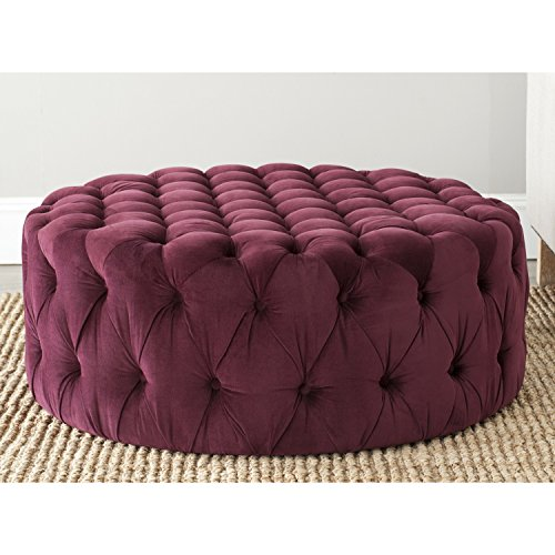 Safavieh Mercer Collection Charlene Ottoman, Bordeaux