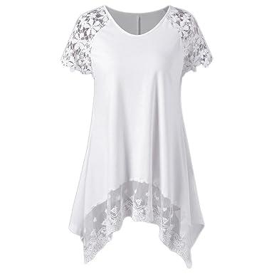 b2a6a42682659 DAY8 Femme Vetements Chic Soirée Femme Vetement Pas Cher Haut Femme Sexy  Dentelle Mode T Shirt