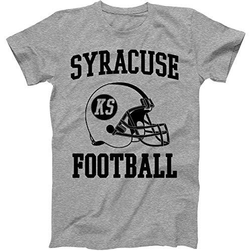 Vintage Football City Syracuse Shirt for State Kansas with KS on Retro Helmet Style Grey Size XXX-Large