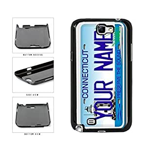 Personalized Custom Connecticut License Plate Plastic Phone Case Back Cover Samsung Galaxy Note II 2 N7100Kimberly Kurzendoerfer