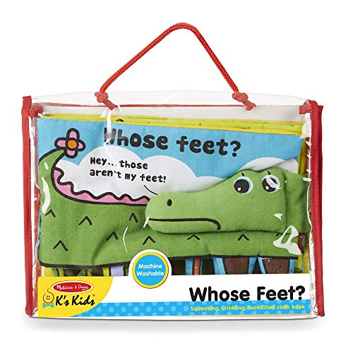 51r8iJhCuYL - Melissa & Doug Soft Activity Baby Book - Whose Feet?
