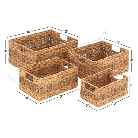 Styled Fascinating Sea Grass Basket - Set Of 4 by Basket Bins