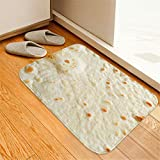 Weiliru Comfort Food Creation Mexican Burritos Comfortable Square Flannel Kitchen Anti-Slip Mats Children's Room Carpet