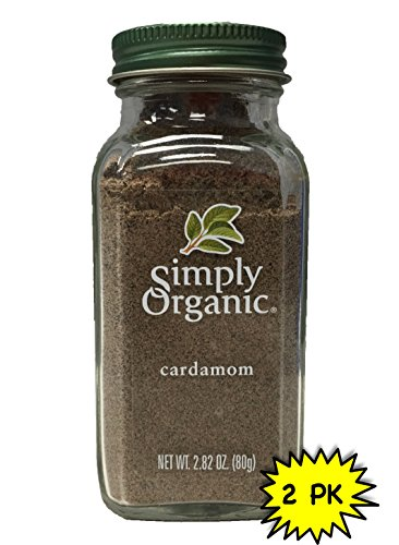 Simply Organic Cardamom ORGANIC 2.82 oz. Bottle (a) - 2pc by Simply Organic