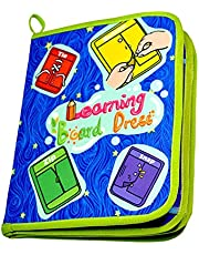 Aideal Kids Toddler Early Learning Toys Basic Life Skills Learn to Dress Board Book - Zipper, Snap, Button, Buckle, Lace & Tie