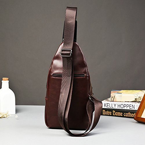 Herren Vintage Brust Tasche Mode casual Messengerbag braun