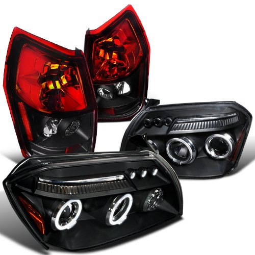 dodge-magnum-black-halo-led-drl-projector-headlights-rear-tail-brake-lamps