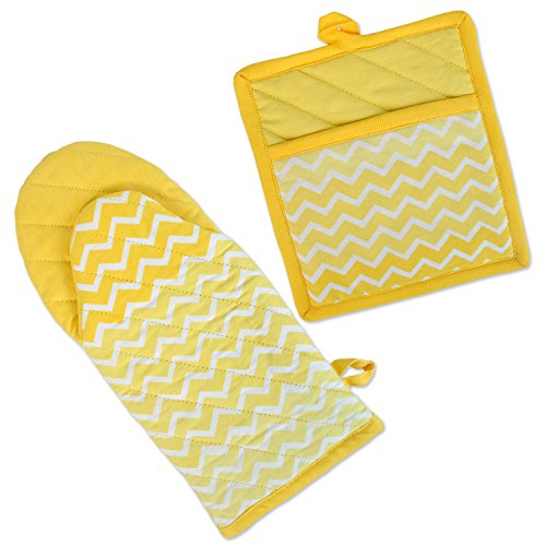 DII Chevron Washable Resistant Baking Yellow