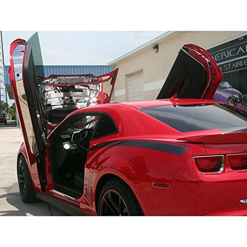 Lambo Door (Upgrade Your Auto Polished Stainless Steel Lambo Door Jamb Kit for 2010-2015 Camaro w/Lambo Doors)