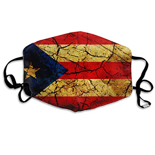 Vintage Puerto Rico Flag Mouth Mask Unisex Anti-dust Cotton Face Mask for Men and Women, Boys and Girls