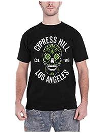 Cypress Hill T Shirt Sugar Skull Est 1988 Band Logo New Official Mens Black