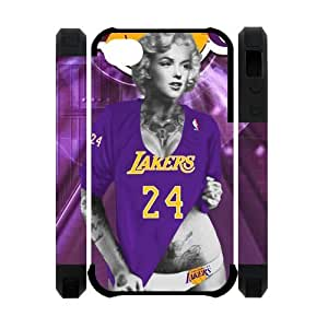 Marilyn Monroe with Los Angeles Lakers Kobe Bryant Purple shirt Case Cover for iPhone 4 4s
